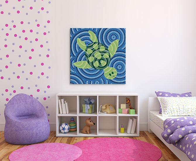 Bedroom with Aboriginal Art For Kids