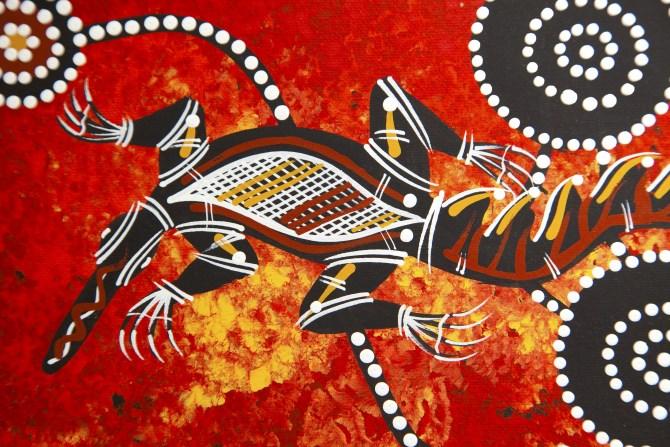 Symbols of aboriginal art for kids