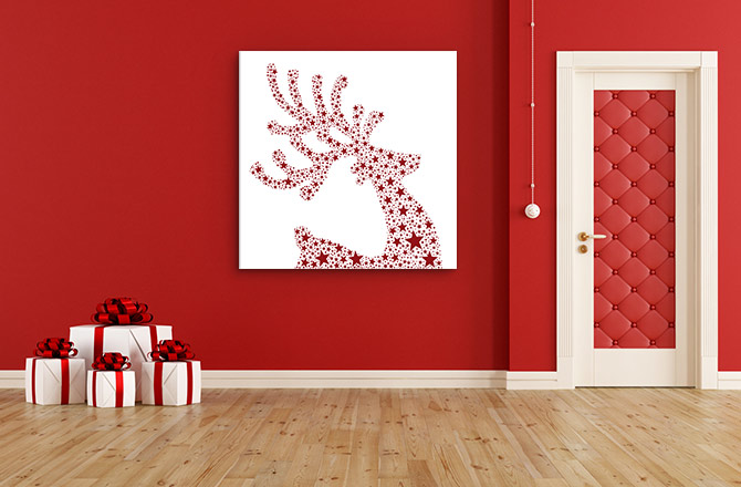 clutter free christmas decorating ideas - Christmas Wall Art Decor