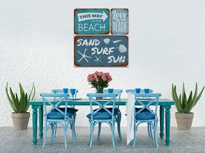 Beach House Interiors - Indoor Outdoor Print