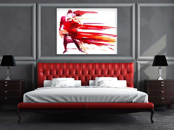 Wall art prints beautiful art for every wall at trade Red bedroom wall painting ideas
