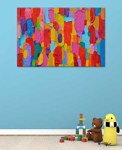 Abstract Art For Kids   Colourful Bold Wall Art Print