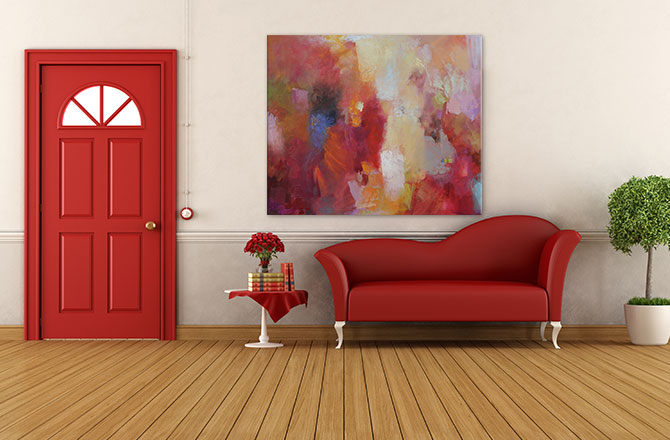 Hallway Decorating Ideas - Use colour