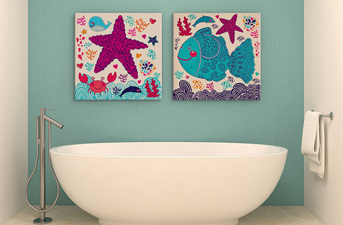 Canvas Painting Ideas - Bathroom