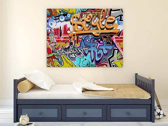 Canvas painting ideas for tricky spaces wall art prints - Teenage wall art ideas ...