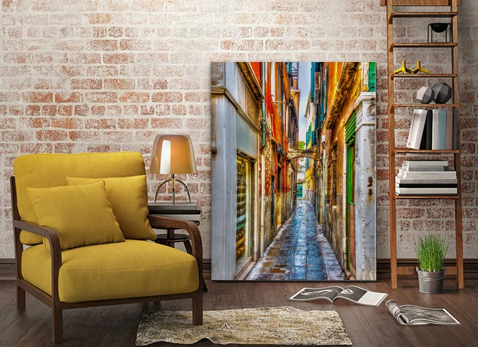 Urban Photography - Coloured Lane
