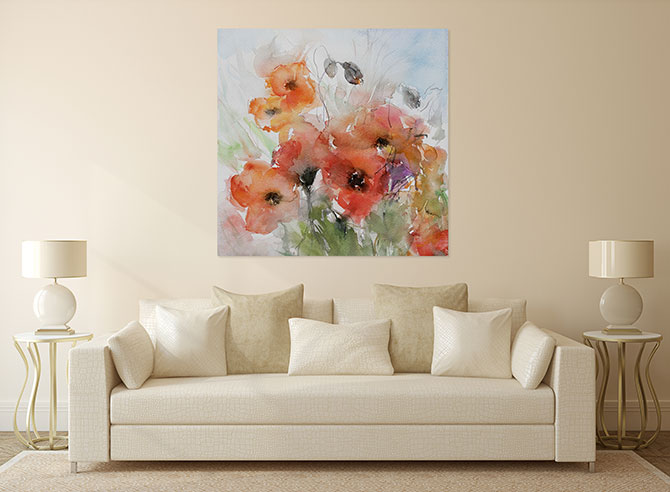 Poppy Art - Watercolour