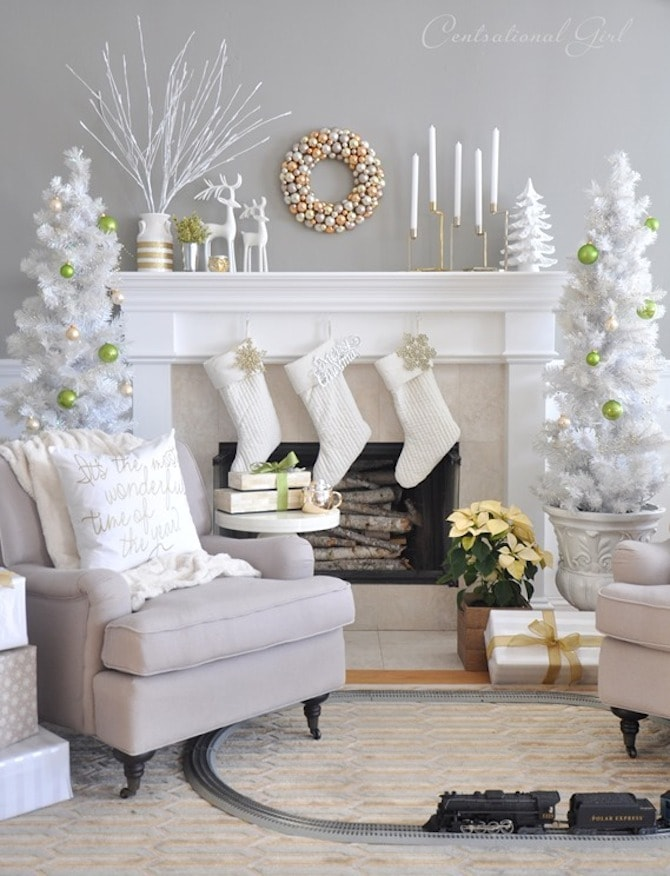 christmas decoration ideas white christmas