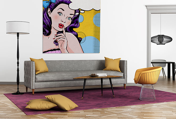22 living room ideas to get out of a funk wall art prints - Living room artwork ideas ...