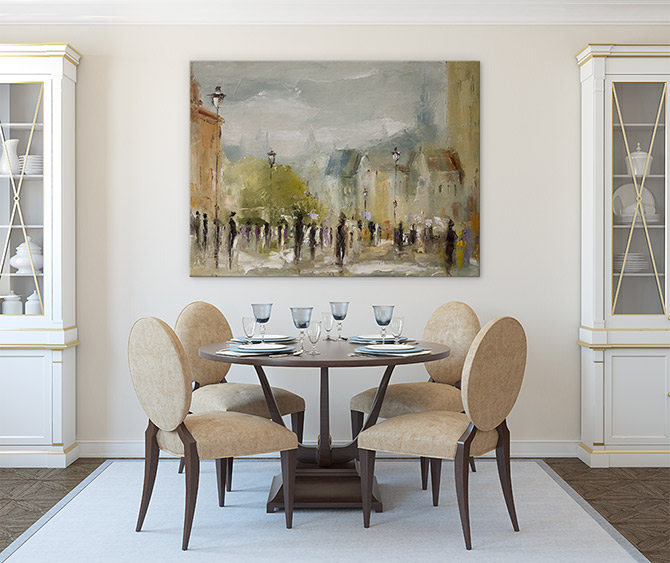 party on bring style back to dinner time with an impressionist print