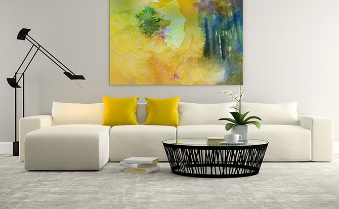 Beau Modern Living Room   Mellow Yellow