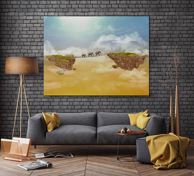 Living Room Digital Art: To Infinity And Beyond: The Art Of Digital Painting
