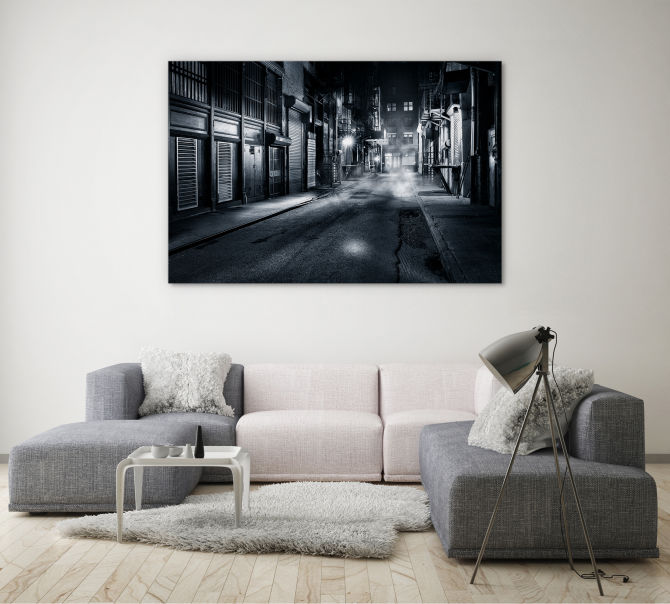 monochrome photography for lounge room