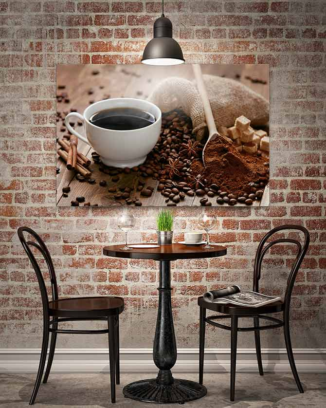 corporate art for cafes