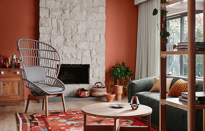 interior colour schemes - terracotta