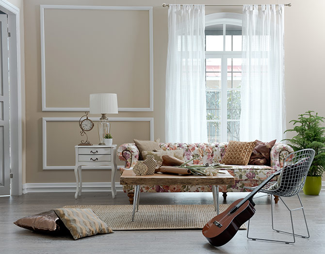 floral patterns as home decor