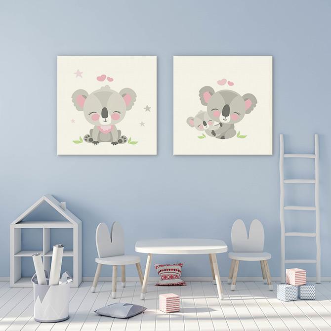 animal art for kids room