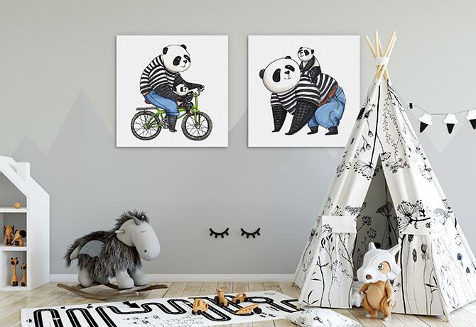 bedroom animal art