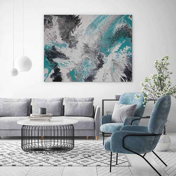 colour combinations - teal and grey