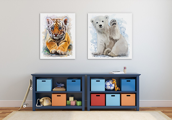 Animal art for bedrooms