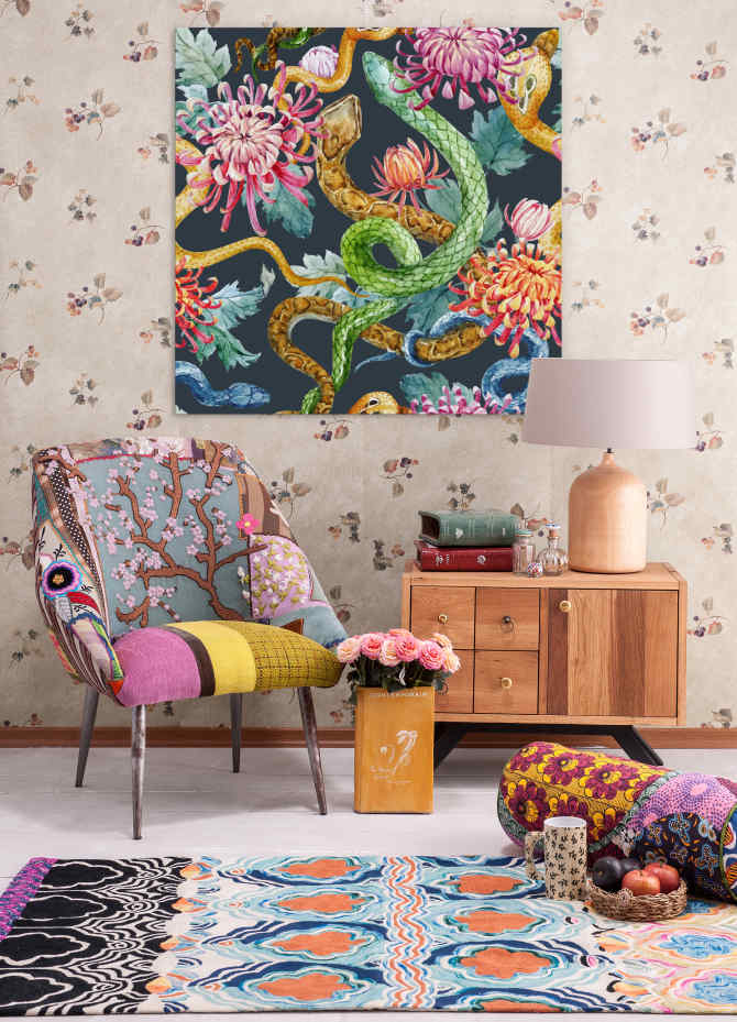Live life to the maximalism! Decor for the bold