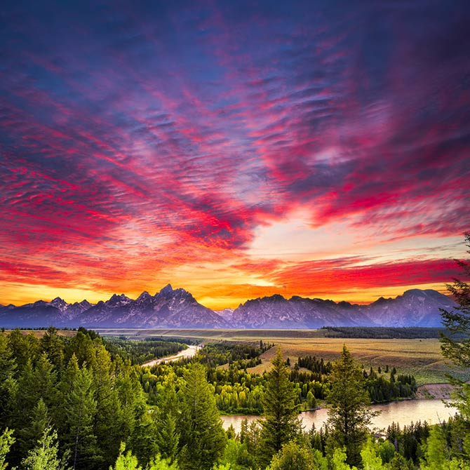 colourful sunset photography