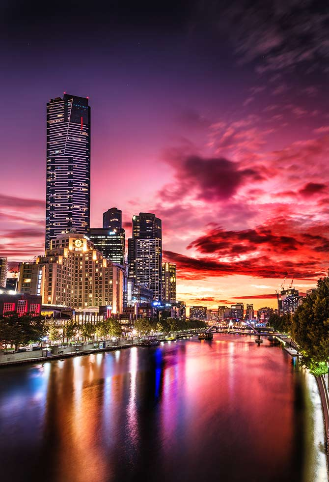 sunset photography in Australia