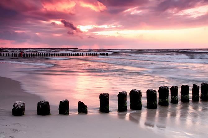 sunset photography on the beach