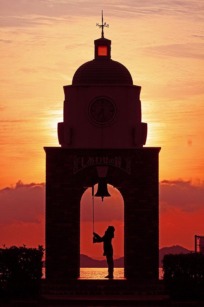 红色夕阳摄影