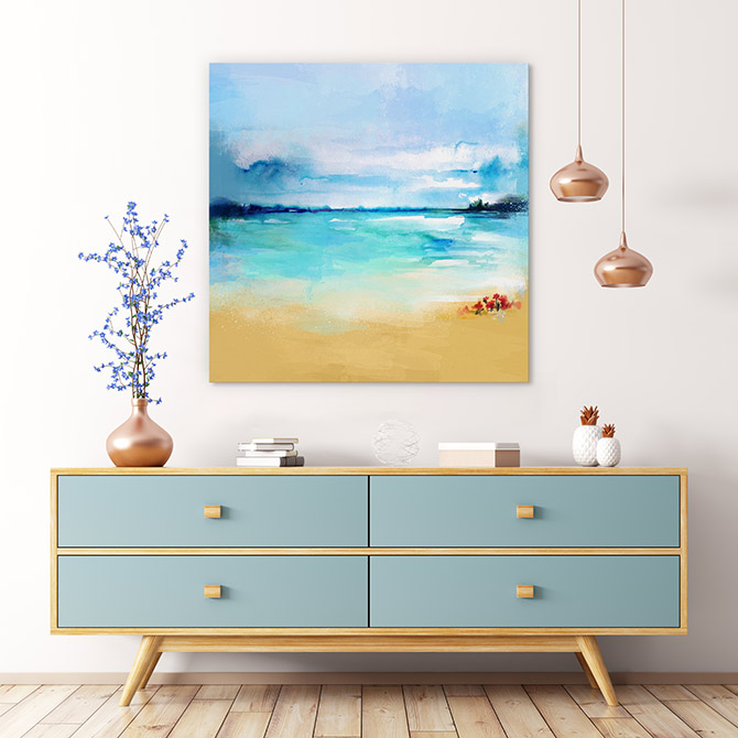 warm beach paintings