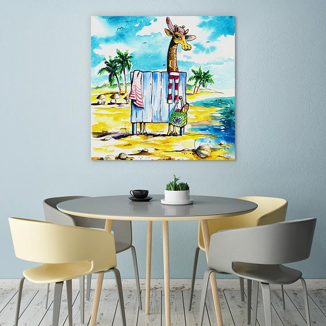 kids beach paintings