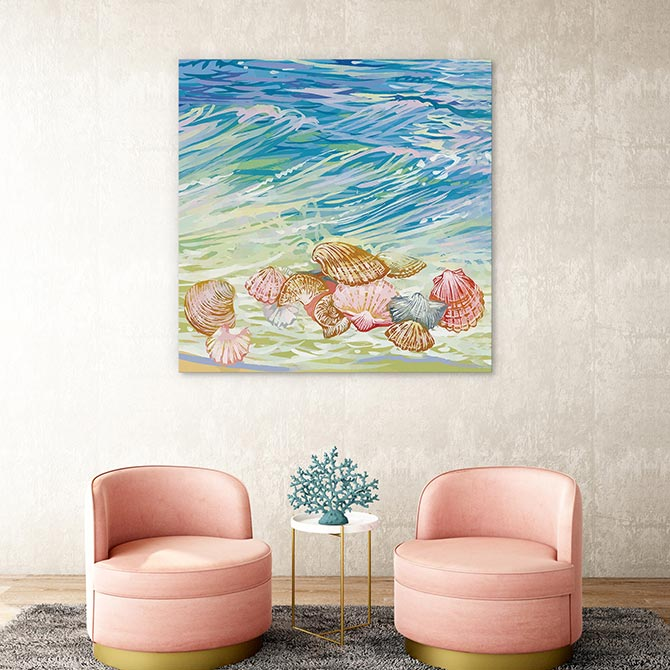 beach paintings that are contemporary