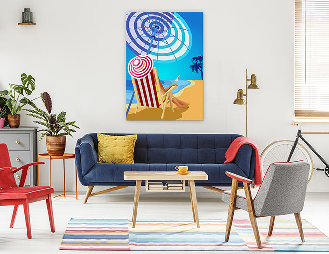 beach paintings for living room