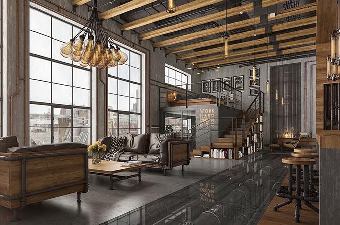 industrial interior design lights