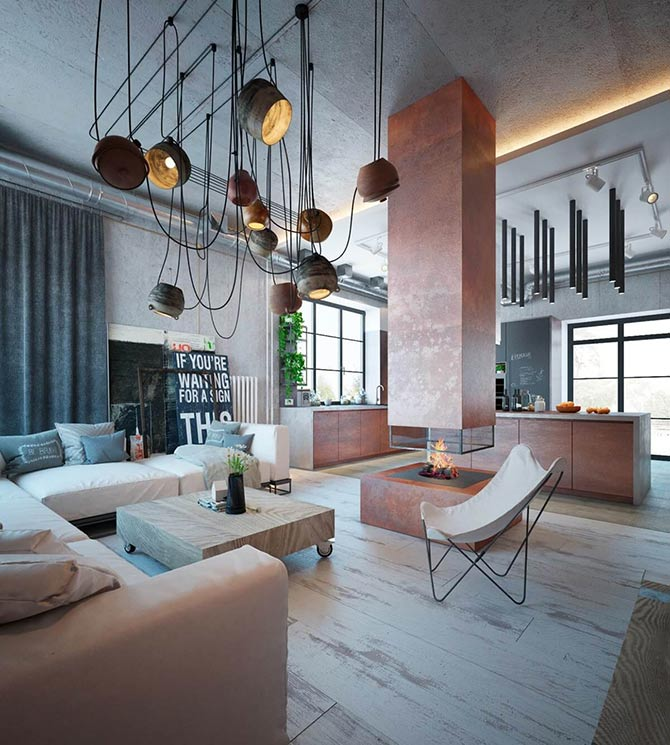 incorporate industrial interior design