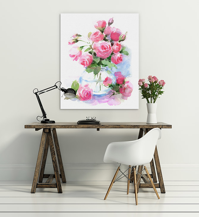 floral watercolour art