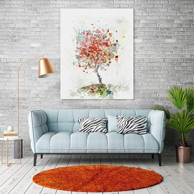 lounge room watercolour art