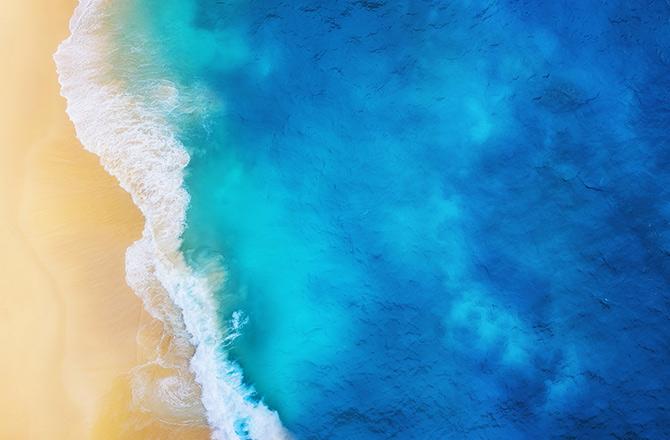 沙滩无人机摄影