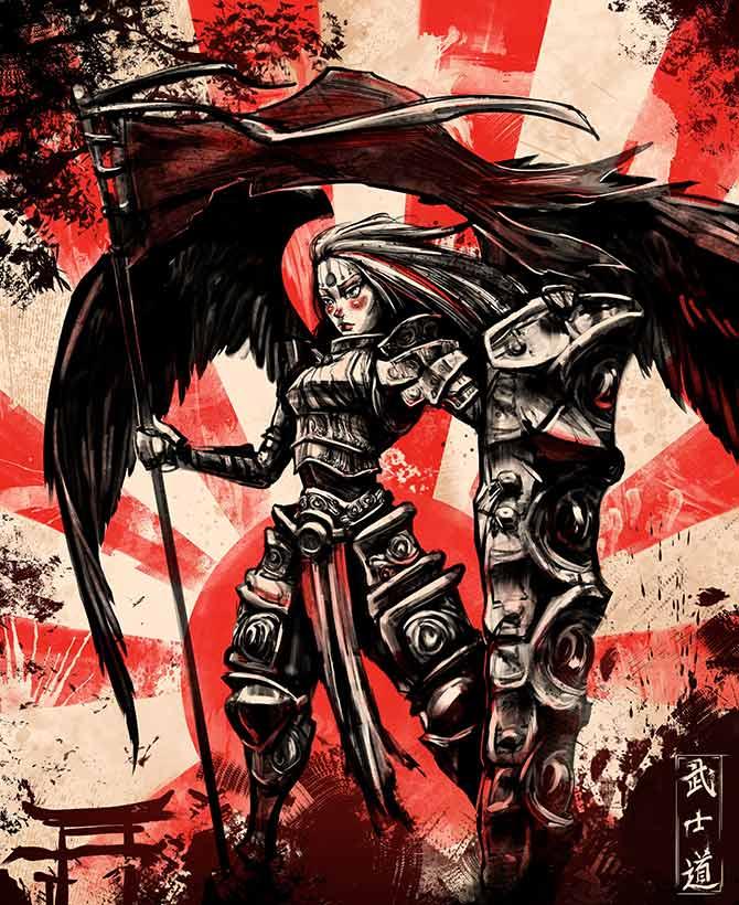 fantasy artwork of warriors