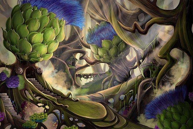 surrealist fantasy artwork