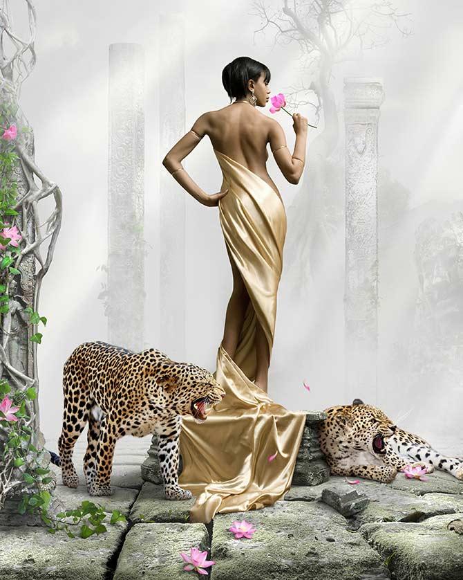 fantasy artwork of goddesses