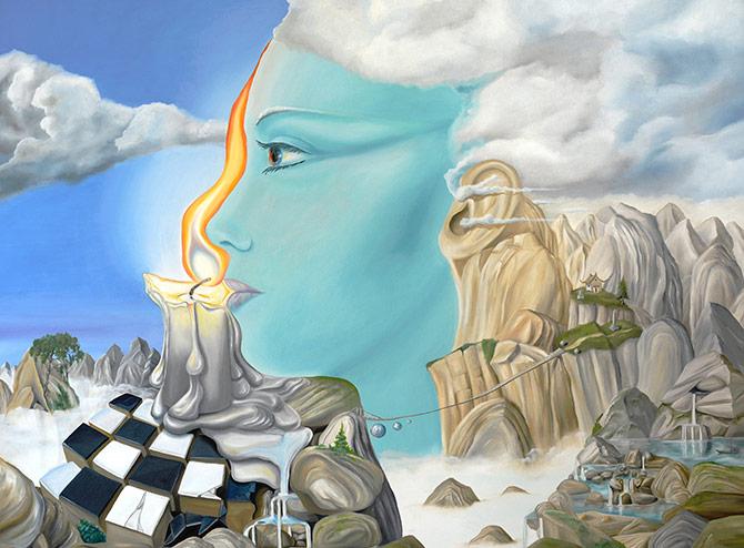fantasy artwork that features surrealism