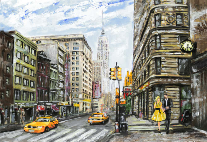 cityscape art ideas