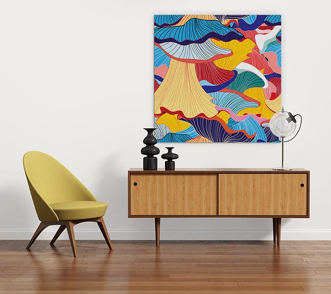colourful decor and design