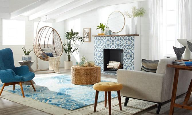 blue decor and design