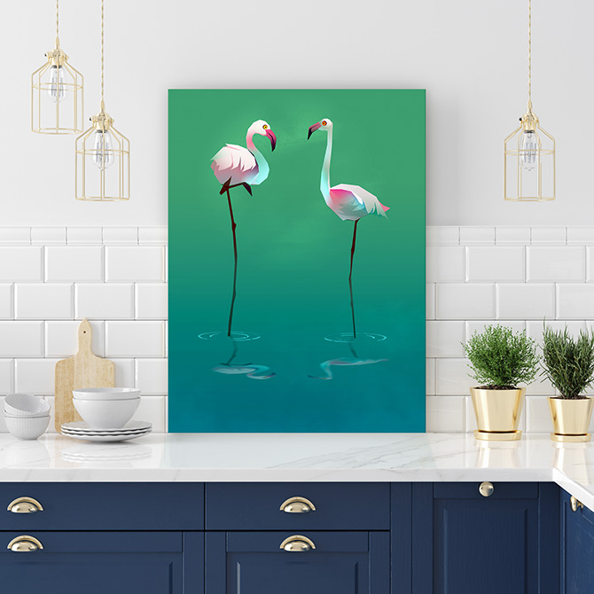 funky bird paintings