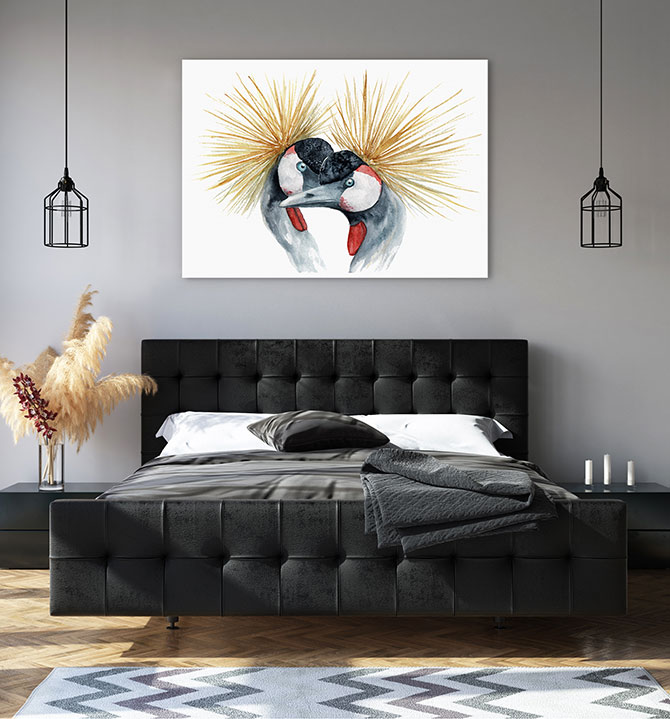 bird paintings for bedroom