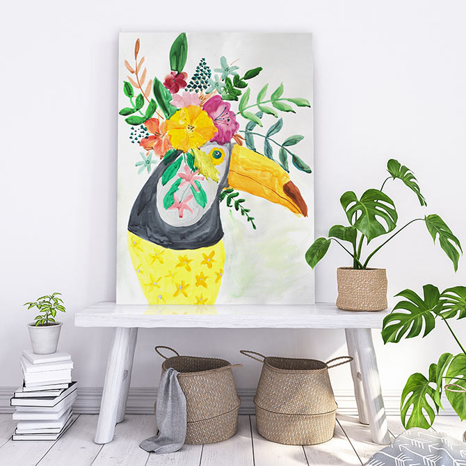 bright bird paintings