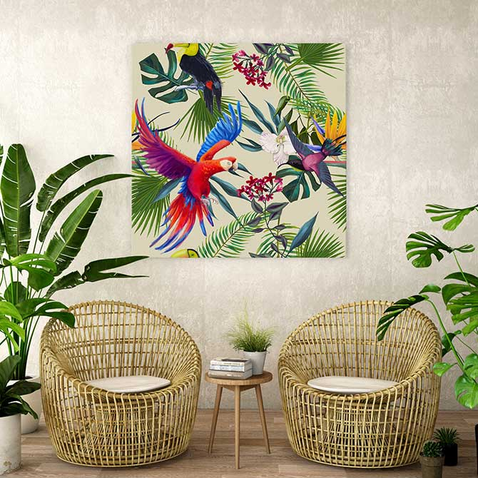 bird paintings for home decor
