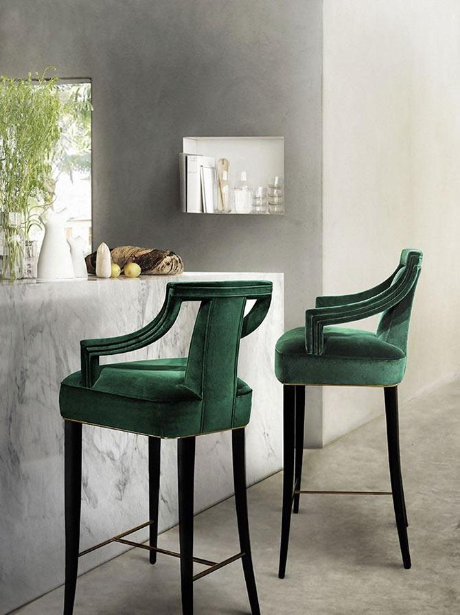 velvet stools for home decor